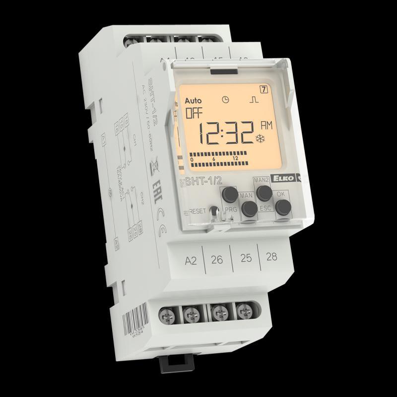 Elektronikus kétcsatornás időzítő kapcsoló SHT 1/2
