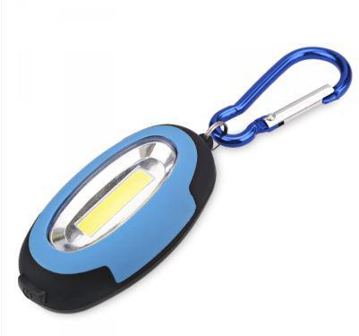 Elemes LED kézi lámpa mágnessel és karabinerrel kék