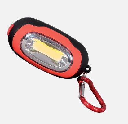 Elemes LED kézi lámpa mágnessel és karabinerrel piros