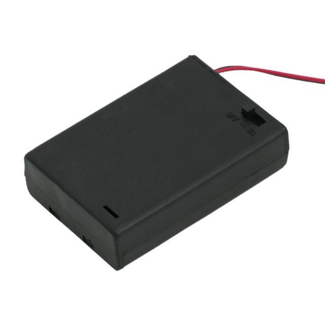 Elemtartó 3 db AA kapcsolóval, fedőlappal