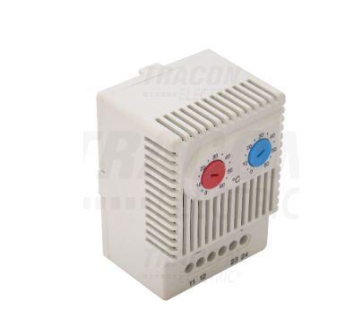 Elosztószekrény termosztát hűtéshez és fűtéshez 1NO+1NC