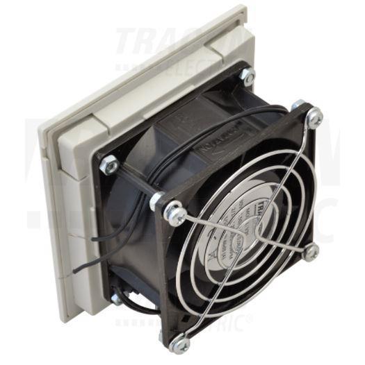 Elosztószekrény ventilátor szűrőbetéttel