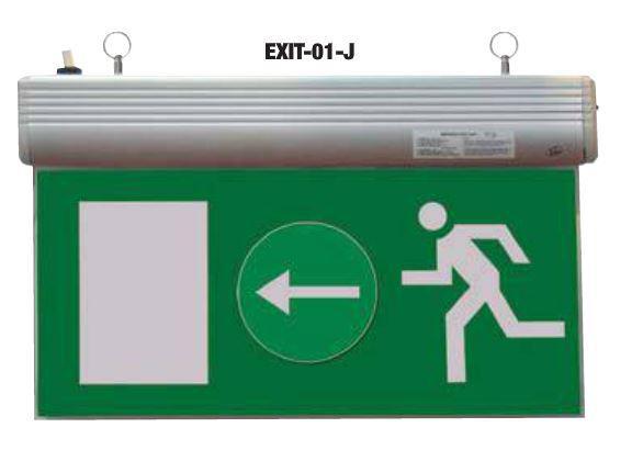 Élvilágítós LED kijáratjelző ragasztható piktogramokkal