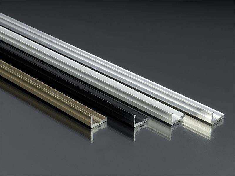 alum nium l profil led szalaghoz 16x10 mm alum nium 11348. Black Bedroom Furniture Sets. Home Design Ideas