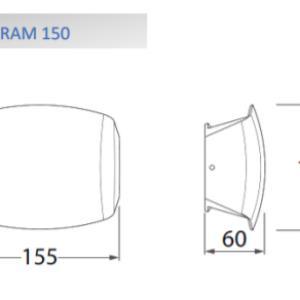 ABRAM 150 LED fali lámpa 4W fekete