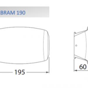ABRAM 190 LED fali lámpa 8,5W szürke