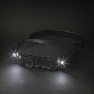 Fejpántos nagyító LED világítással