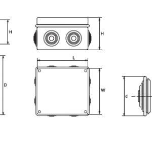 Kötődoboz 50x50 IP44