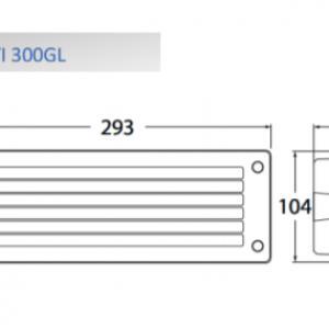 LETI 300 süllyesztett fali lámpa E27 rácsos fekete