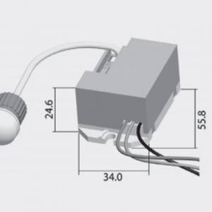 Mozgásérzékelő beépíthető 360° CR7