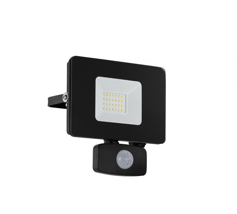 FAEDO kültéri fali LED-es fekete reflektor 20W IP44