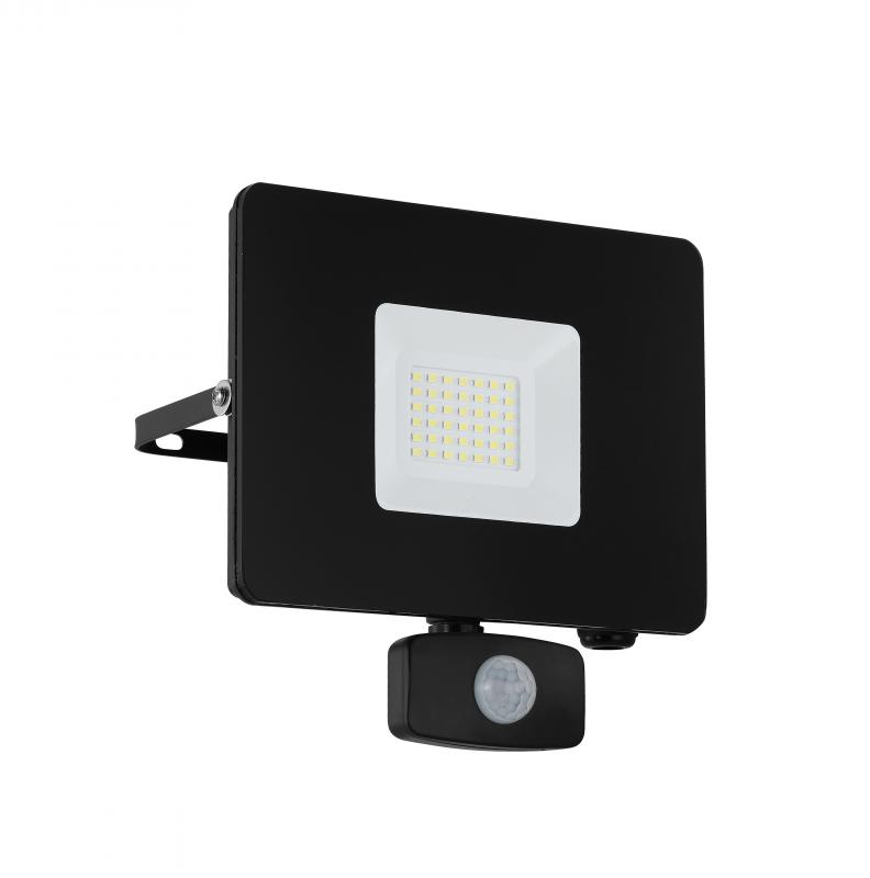 FAEDO kültéri fali LED-es fekete reflektor 30W IP44