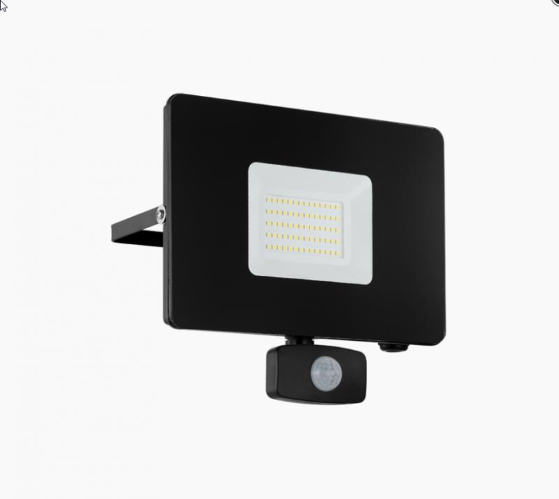 FAEDO kültéri fali LED-es fekete reflektor 50W IP44