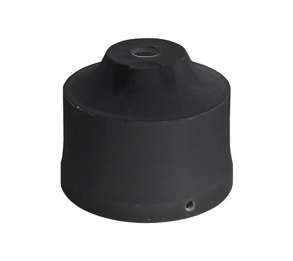 Fém lámpa oszlop közdarab falikarhoz fekete