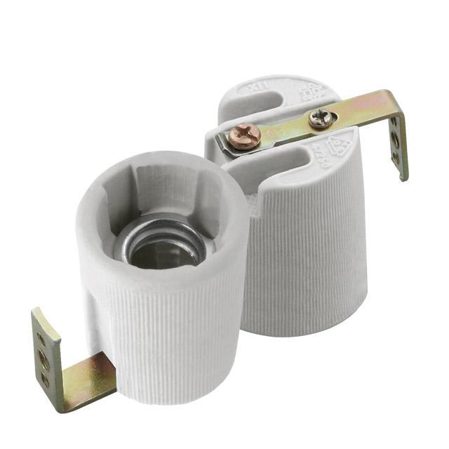 Foglalat E-14 porcelán fém füllel