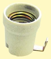 Foglalat E-27 porcelán fém füllel