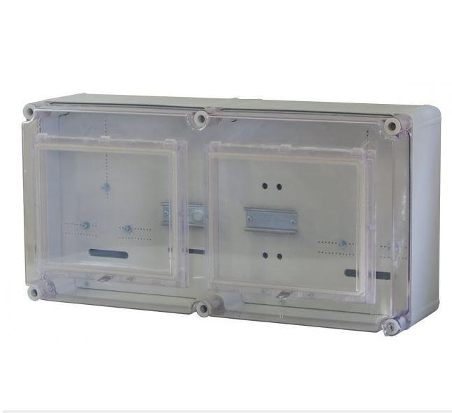 Fogyasztásmérő szekrény ÉMÁSZ 1 fázisú általános és vezérelt órához PVT 3060 Á-VFM