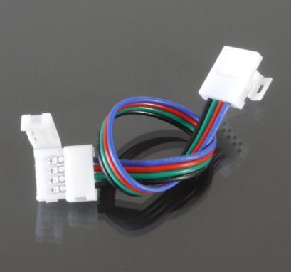 Forrasztásmentes sarokelem beltéri RGB LED szalaghoz