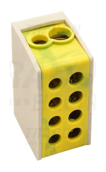 Fővezeték soroló sorkapocs 1-25 mm2 Zöld-sárga