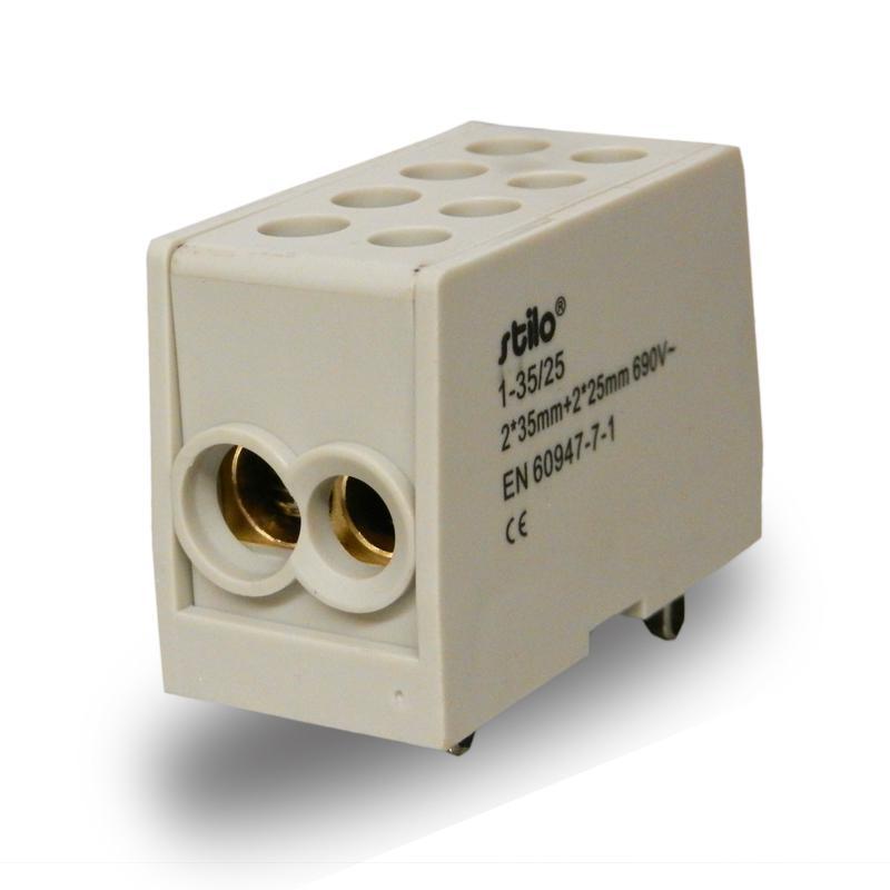 Fővezeték soroló sorkapocs 1-35 mm2 Szürke