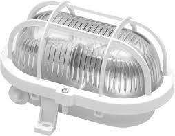Hajólámpa ovális műanyag ráccsal max.60W