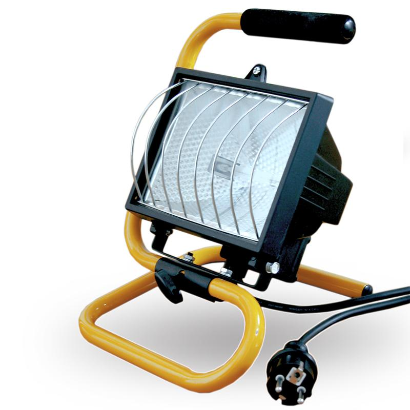 Halogén reflektor hordozható 500W