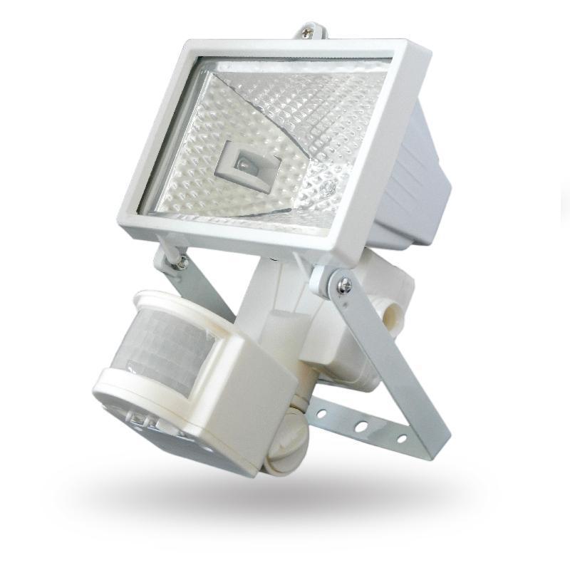 Halogén reflektor mozgásérzékelővel 150W fehér