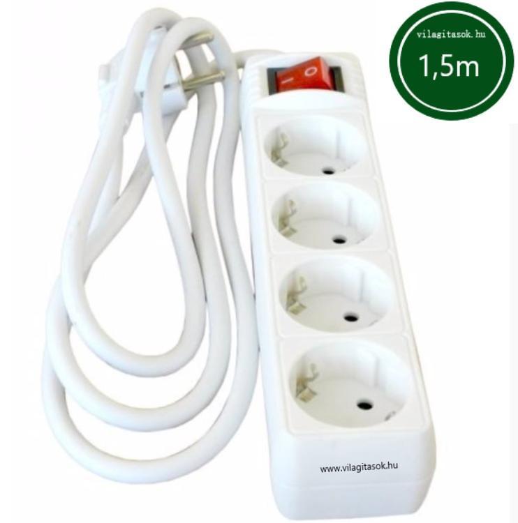 Hálózati elosztó kapcsolóval 4h 1,5m 3x1,5mm2 vezeték!
