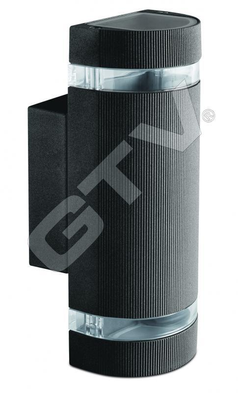 Homlokzati lámpa SILVA 2xGu-10 fekete