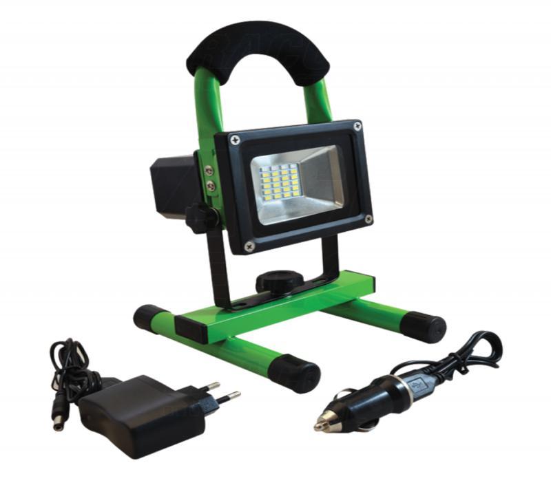 Hordozható akkumulátoros  LED reflektor vészjelzővel+USB töltő