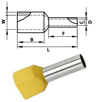 Iker érvéghüvely 2x1,5mm2