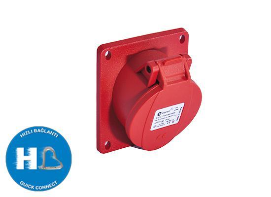 Ipari csatlakozó dugalj 3317-es dobozhoz beépíthető 4P 32A 75x75mm