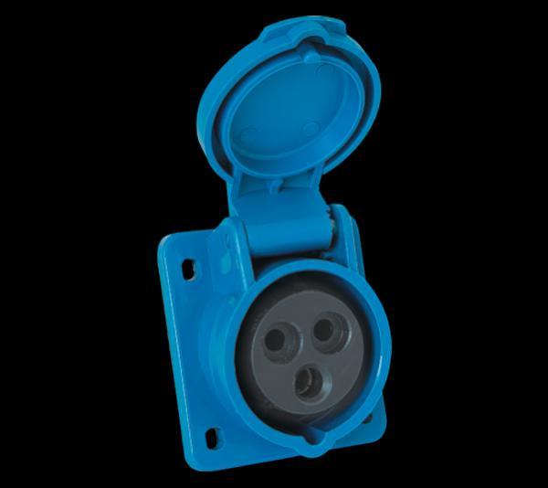 Ipari csatlakozó dugalj 3P 32A beépíthető