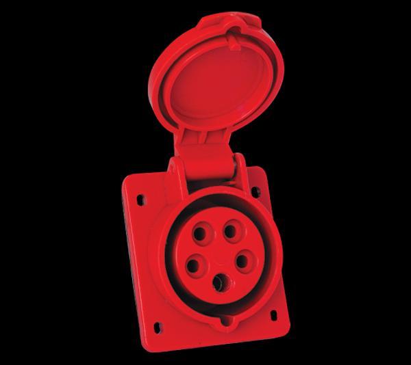Ipari csatlakozó dugalj 5P 16A beépíthető