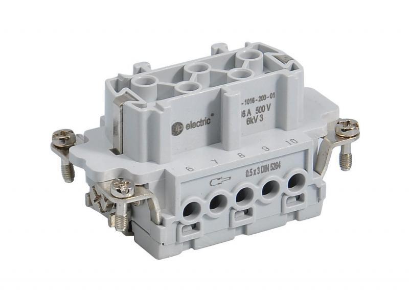 Ipari nehézcsatlakozó, dugalj betét, 10x16A/500V/10P+F