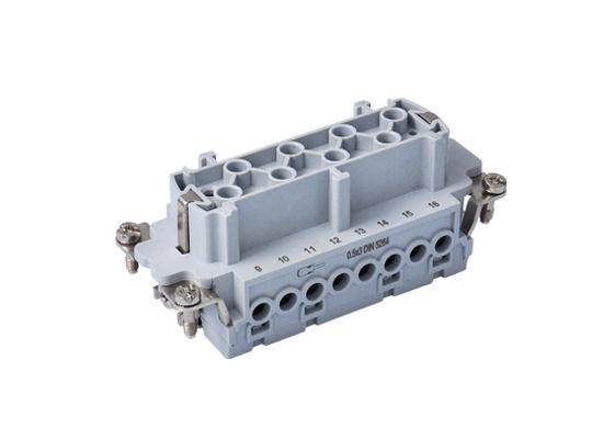 Ipari nehézcsatlakozó, dugalj betét, 16x16A/500V/16P+F