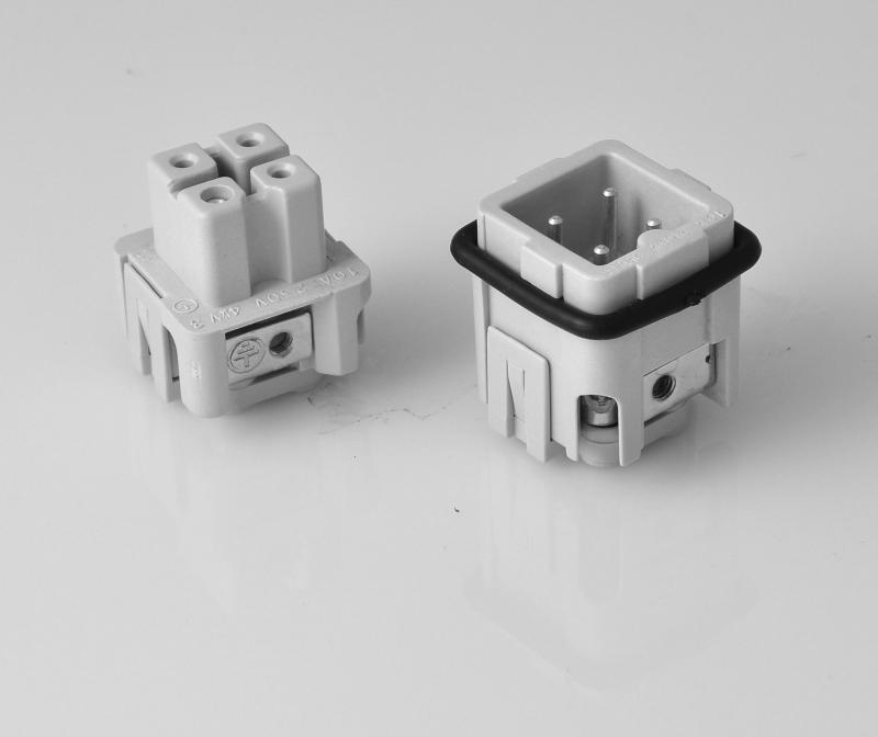 Ipari nehézcsatlakozó, dugalj betét, 4x10A/230-400V/3P+F