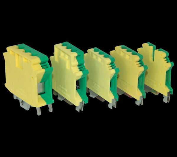 Ipari sorkapocs sorolható 35mm2 zöld/sárga