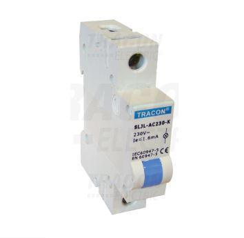 Jelző lámpa sínre szerelhető 24V Kék