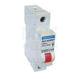 Jelző lámpa sínre szerelhető 24V Piros