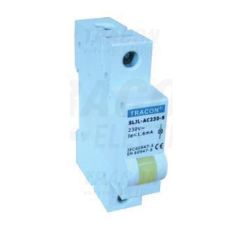 Jelző lámpa sínre szerelhető 24V Sárga