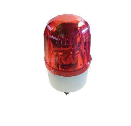 Jelző lámpa szirénával 12V 11W piros