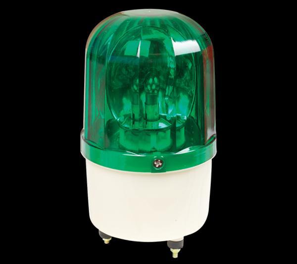 Jelző lámpa szirénával 230V 9W zöld