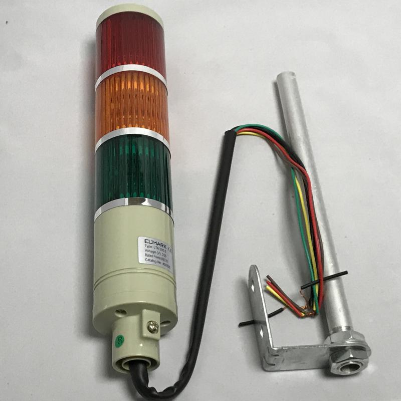 Jelző oszlop piros,sárga,zöld 230V 10W