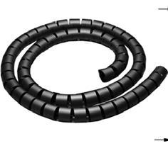 Kábelösszekötő spirál 4mm fekete
