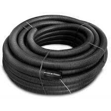 Kábelvédőcső FXKVR 50 duplafalú tekercsben halogénmentes fekete UV álló