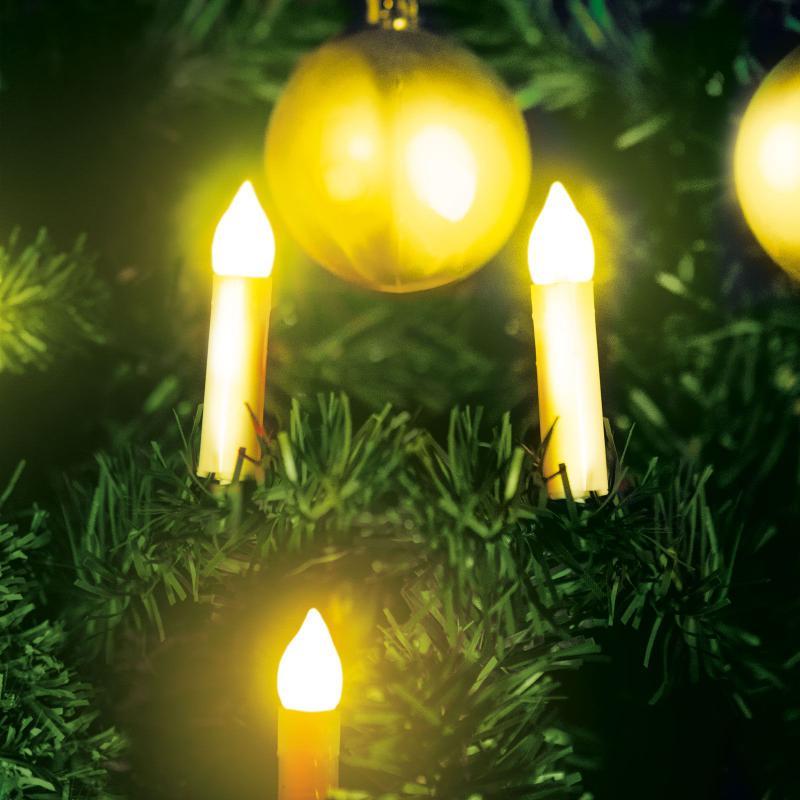 Karácsonyi LED gyertyafüzér - melegfehér - 10 LED - 2 x AA