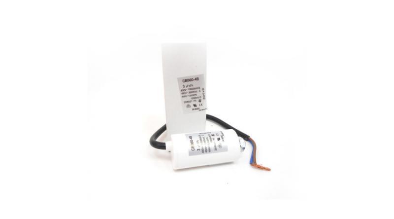 Kondenzátor állandó üzemre 3 μF vezetékes