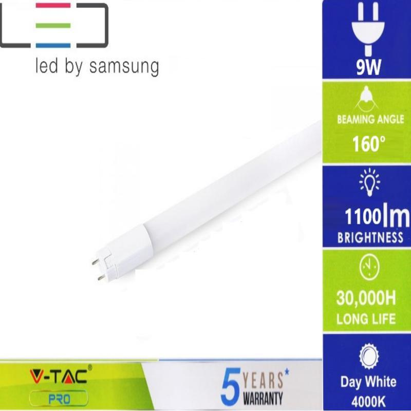 Led fénycső 60 cm  Pro Nano T8 9W Samsung chip természetes fehér