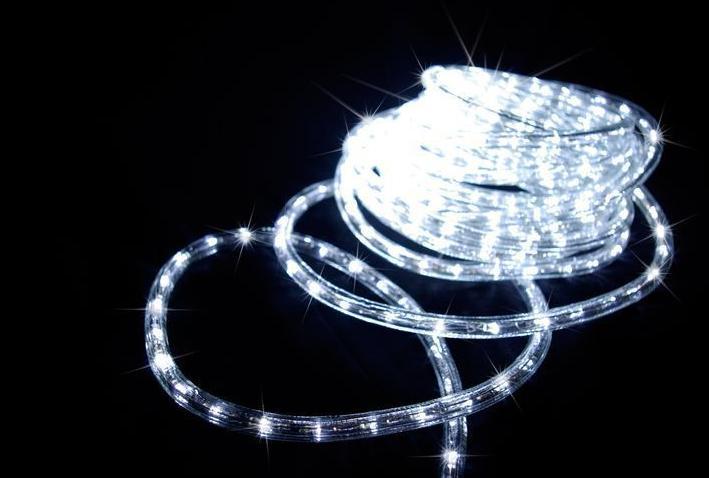 Led fénykábel hideg fehér 2,5W/m